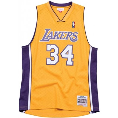 mens shaquille o'neal lakers jersey