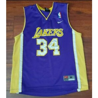 shaquille o'neal jersey kids lakers