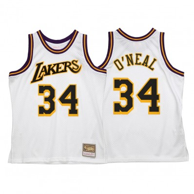 shaquille o'neal jersey lakers white