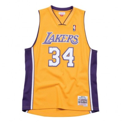 shaquille o'neal jersey lakers yellow