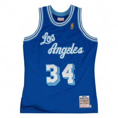 shaquille o'neal lakers jersey blue