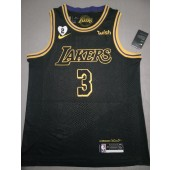 black and gold anthony davis lakers jersey