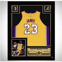 framed jersey signed nba lakers