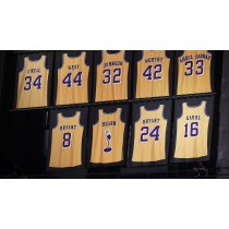 los angeles lakers retired jersey numbers